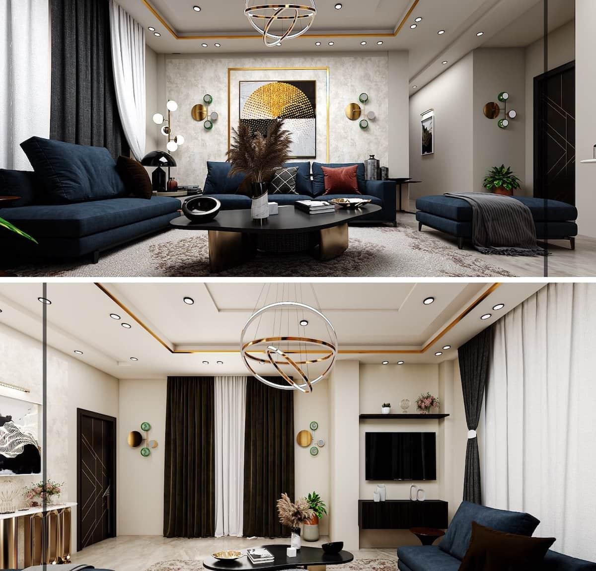 красивый дизайн потолка фото 65