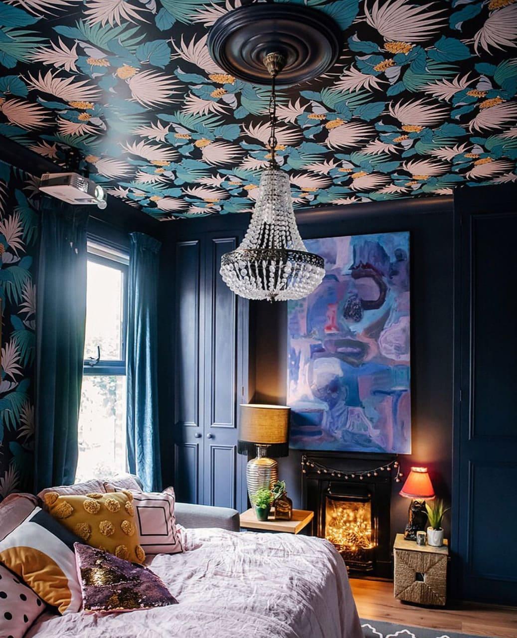красивый дизайн потолка фото 30