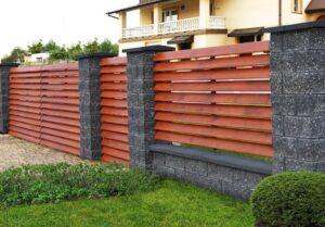красивый деревянный забор фото 49