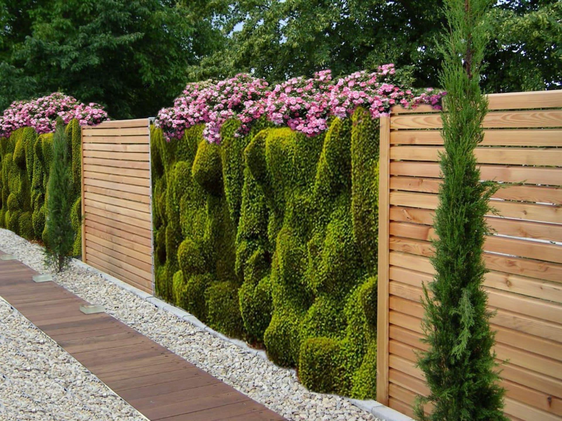 красивый деревянный забор фото 35