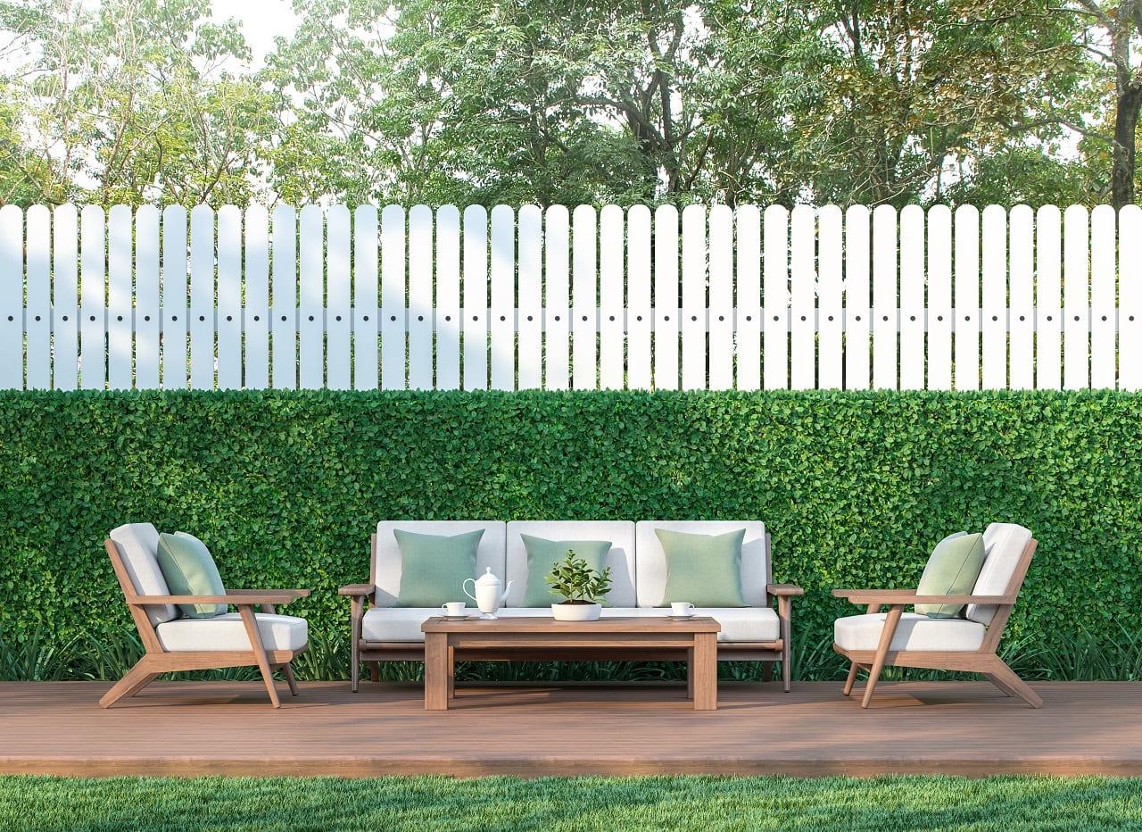 красивый деревянный забор фото 10