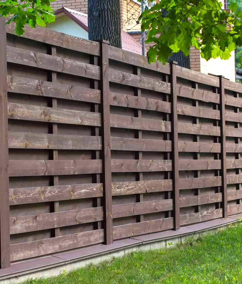 красивый деревянный забор фото 39