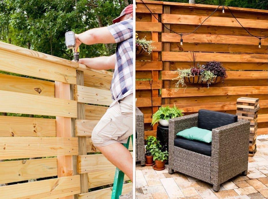 красивый деревянный забор фото 22