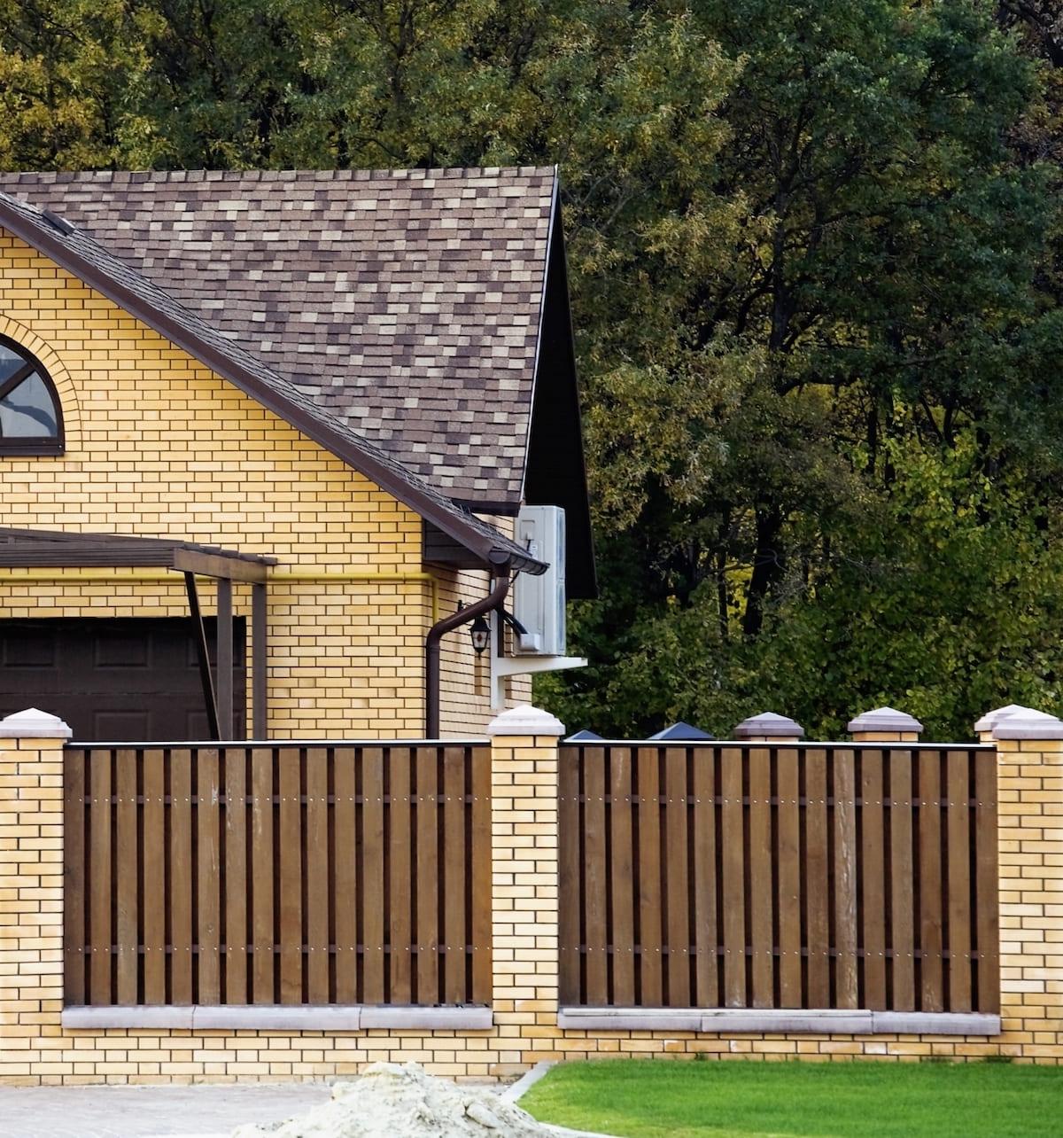 красивый деревянный забор фото 45