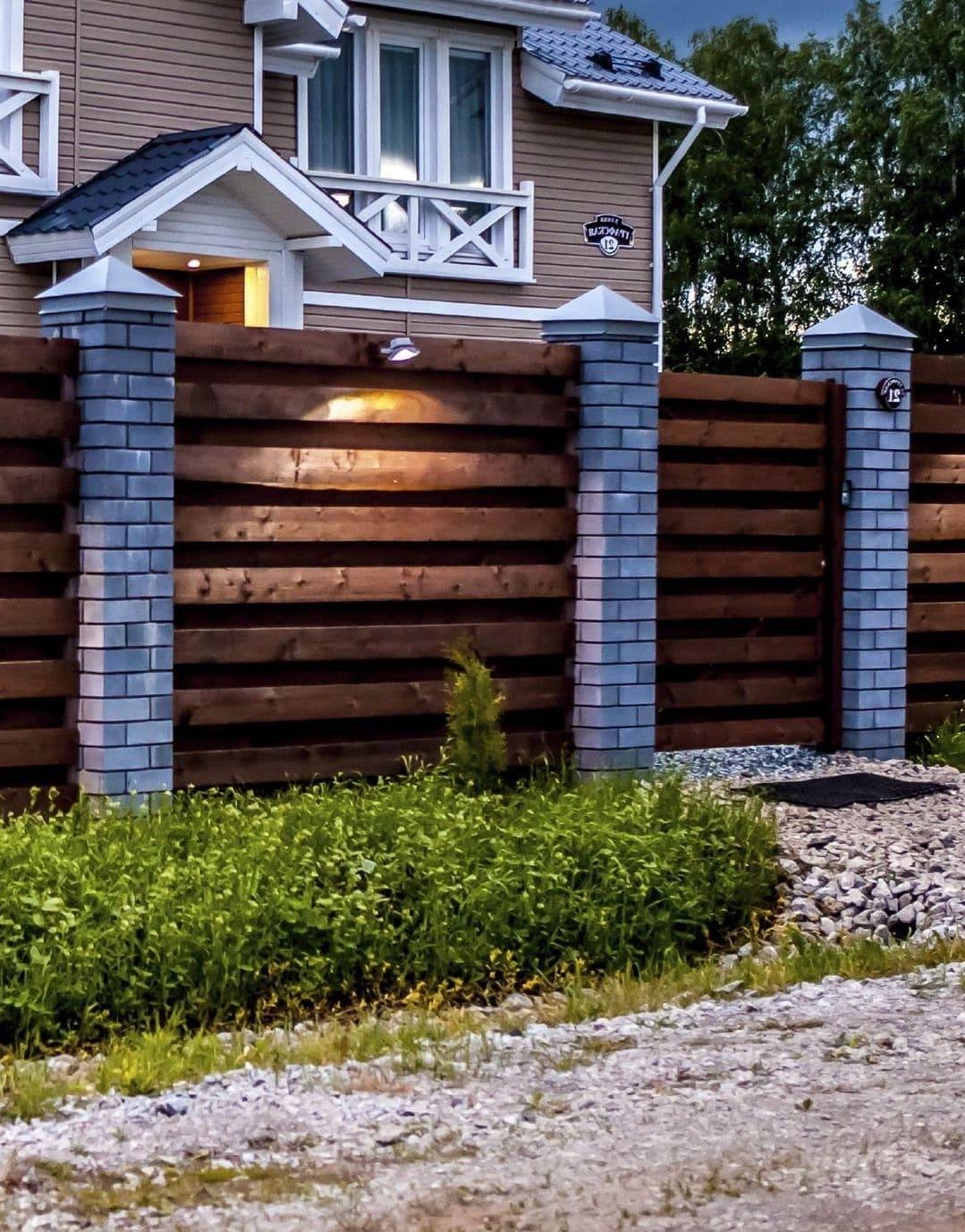 красивый деревянный забор фото 42