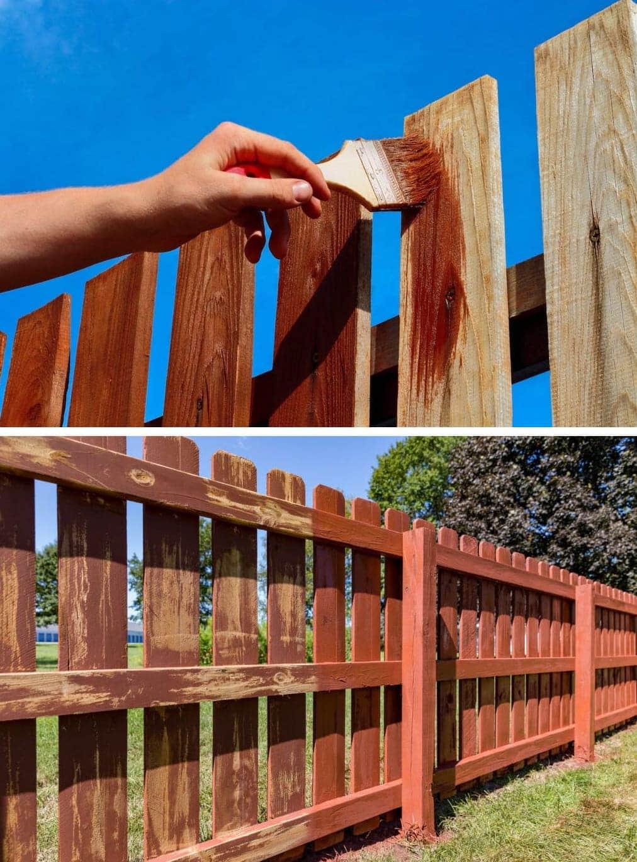 красивый деревянный забор фото 25