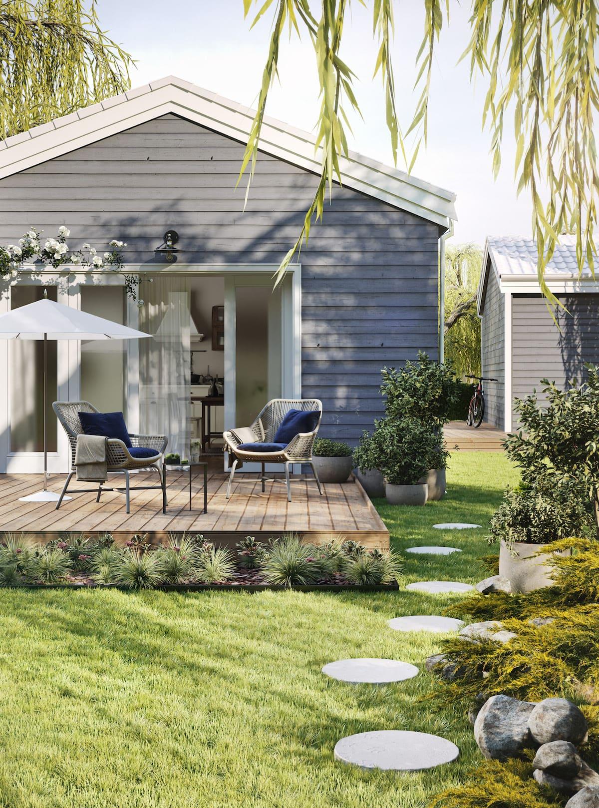 красивый сад частного дома фото 60