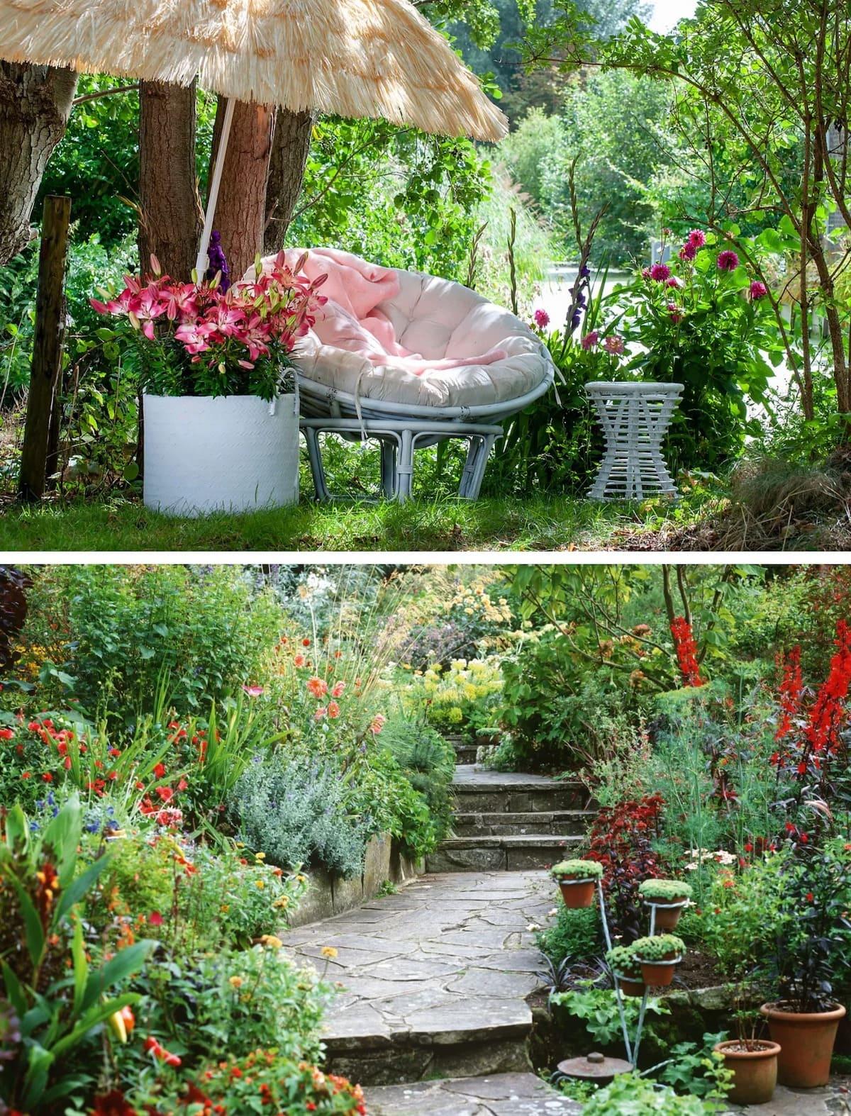 красивый сад частного дома фото 70