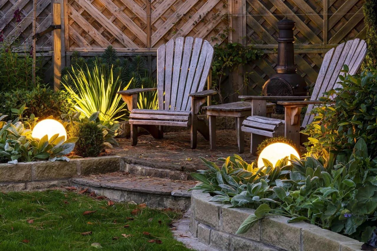 красивый сад частного дома фото 64