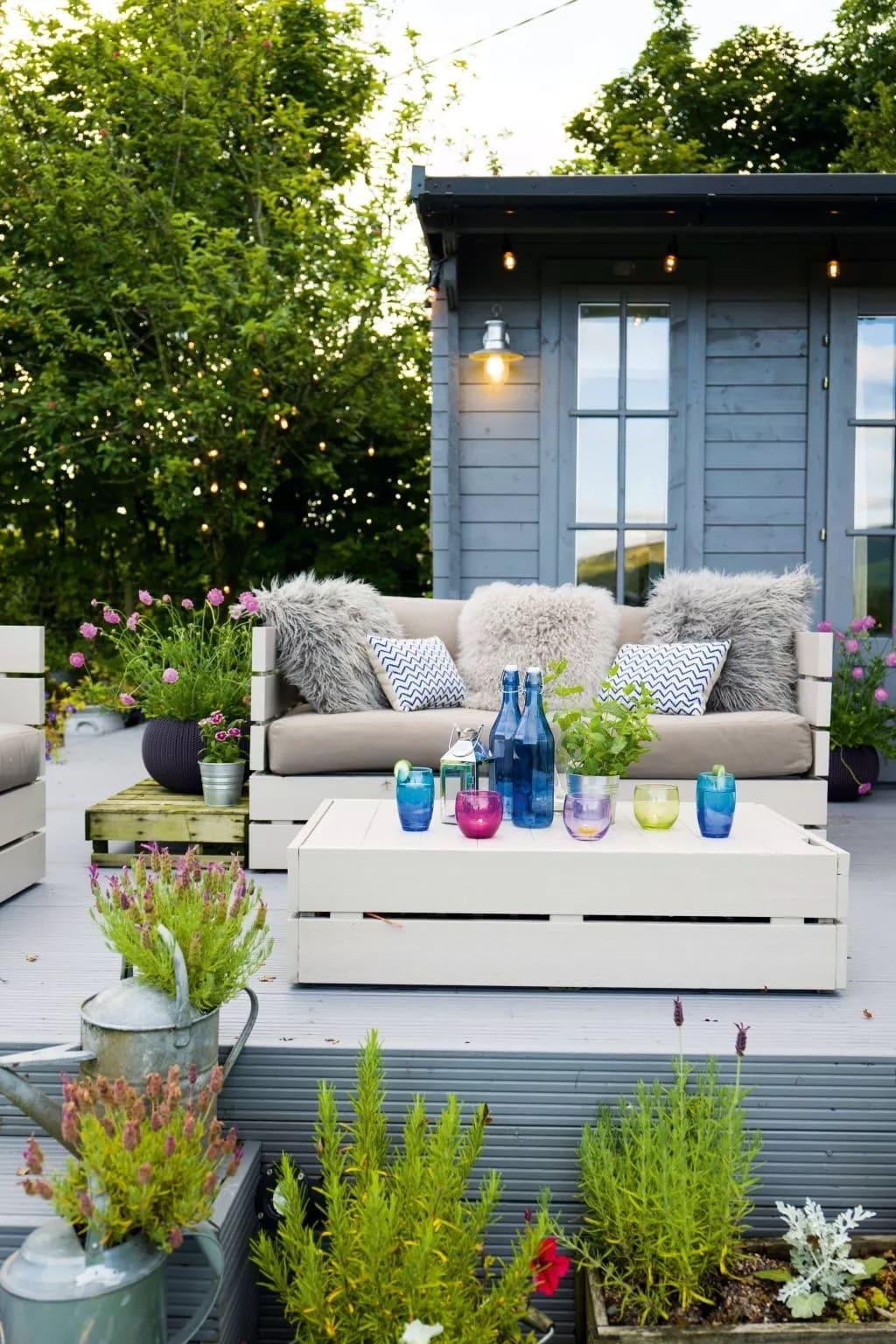 красивый сад частного дома фото 61