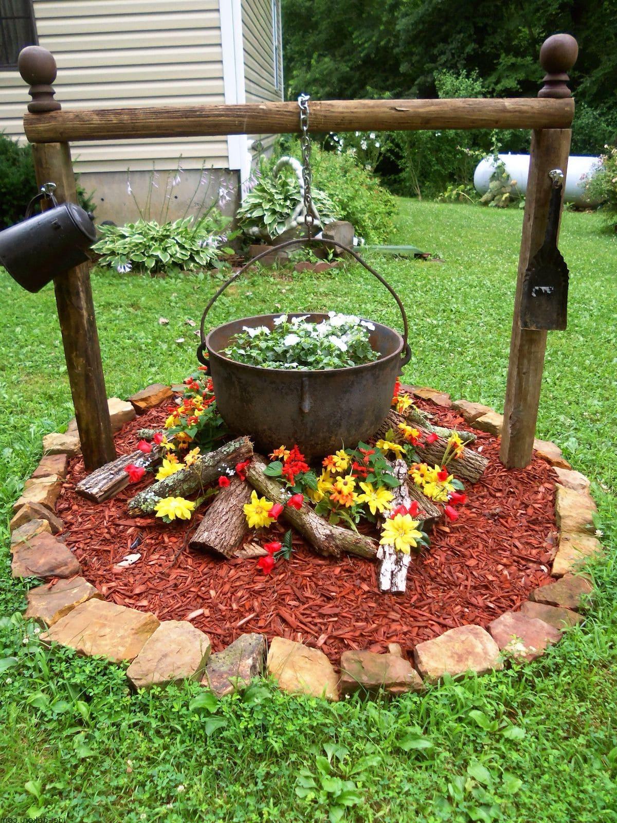 красивый сад частного дома фото 12