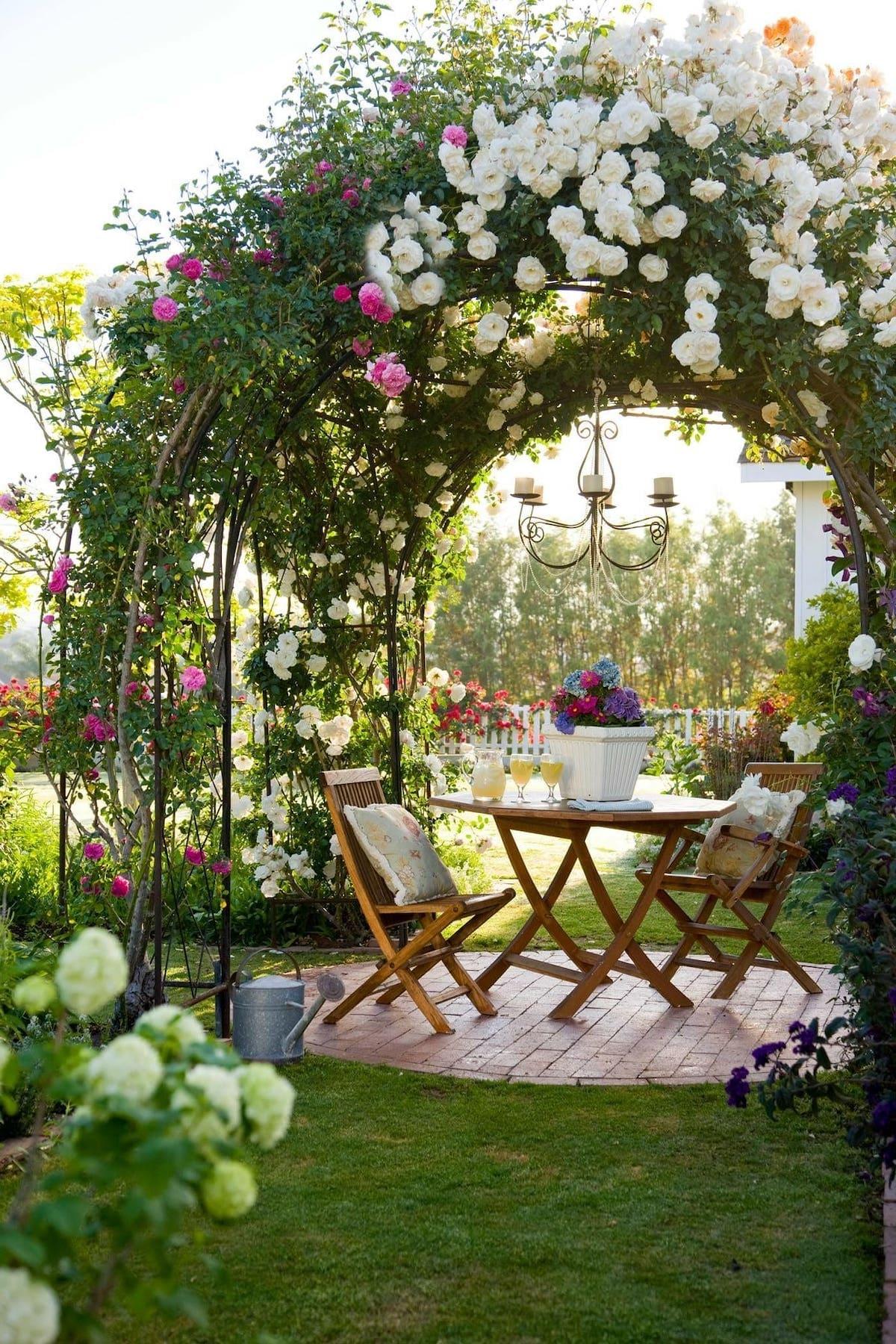 красивый сад частного дома фото 65