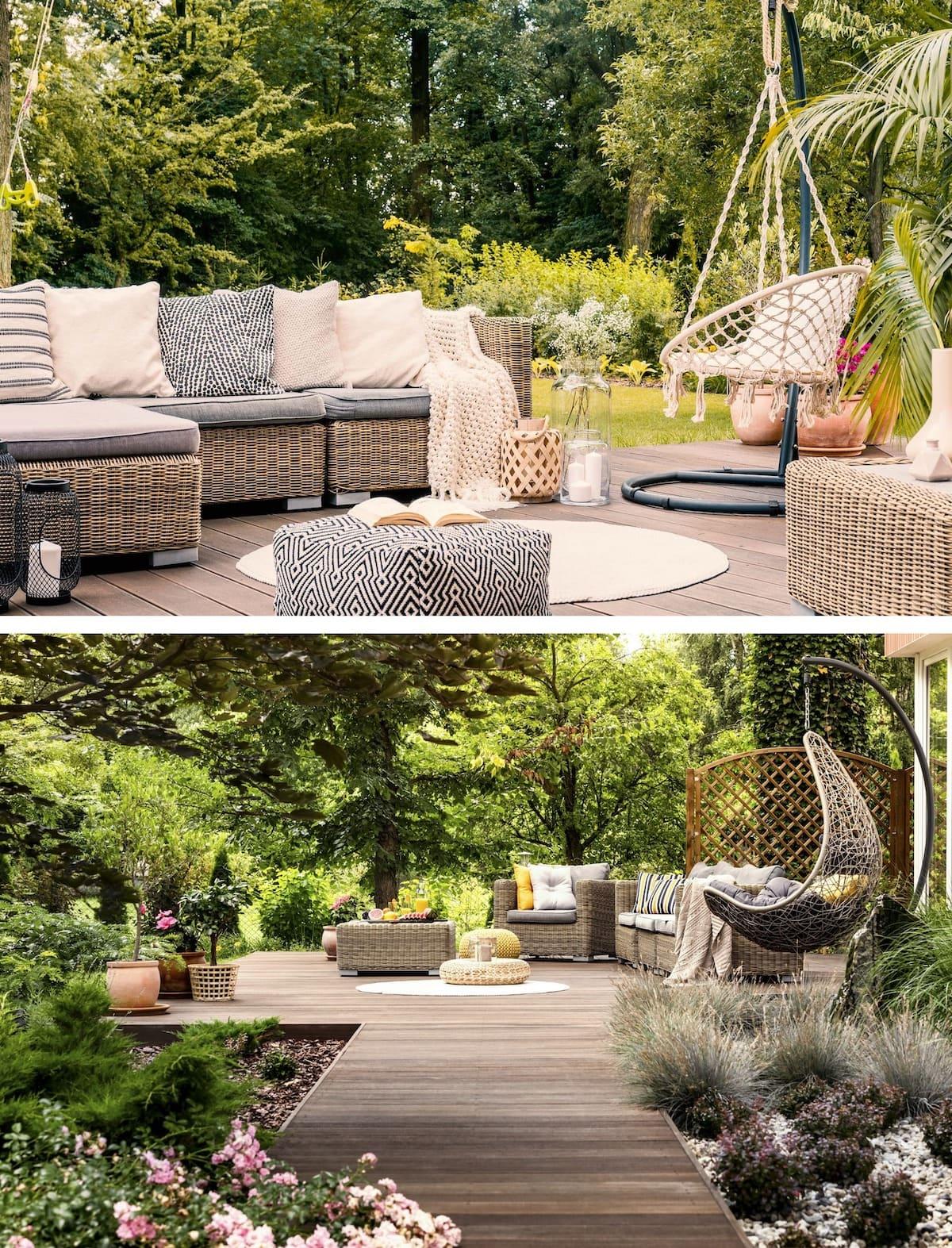 красивый сад частного дома фото 22