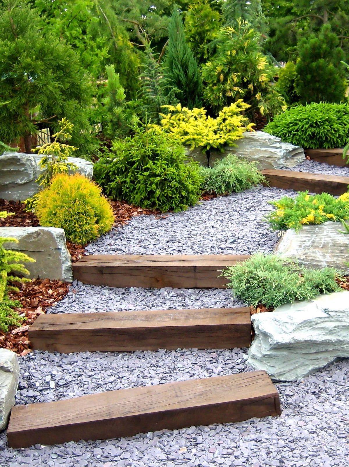красивый сад частного дома фото 23