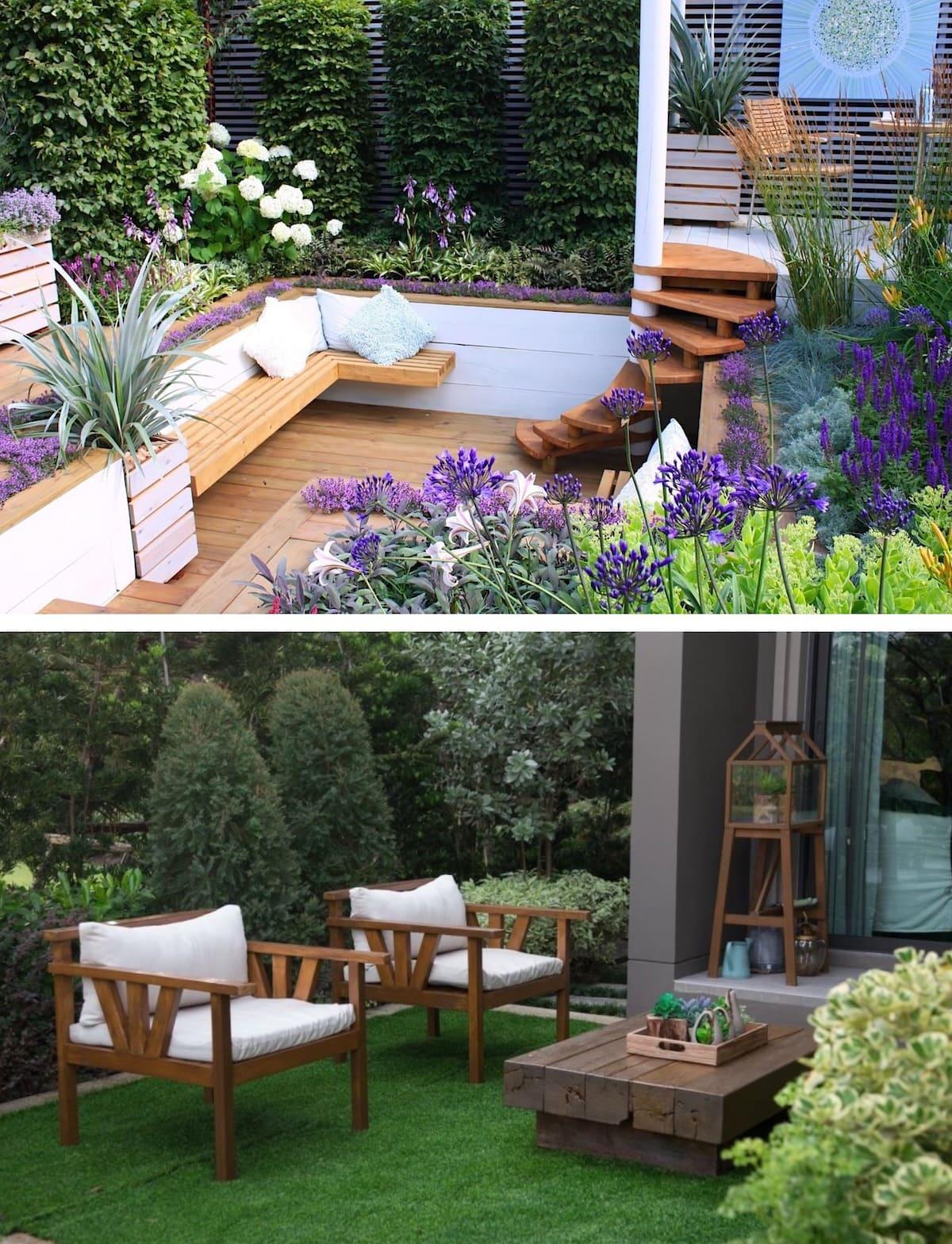 красивый сад частного дома фото 27