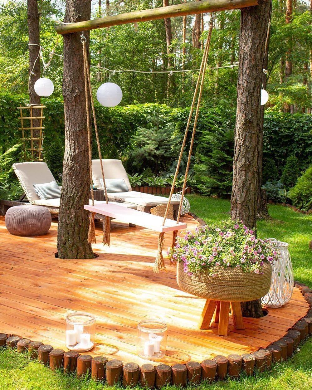 красивый сад частного дома фото 59