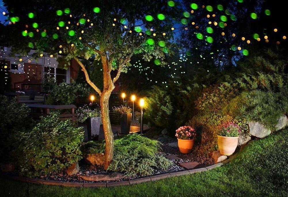 красивый сад частного дома фото 52