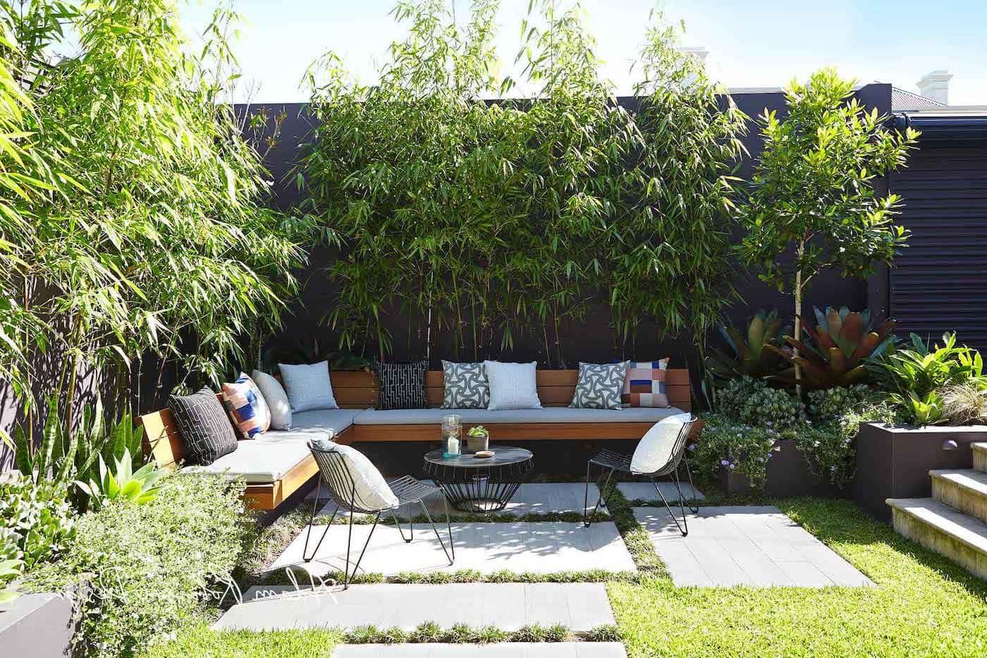 красивый сад частного дома фото 66