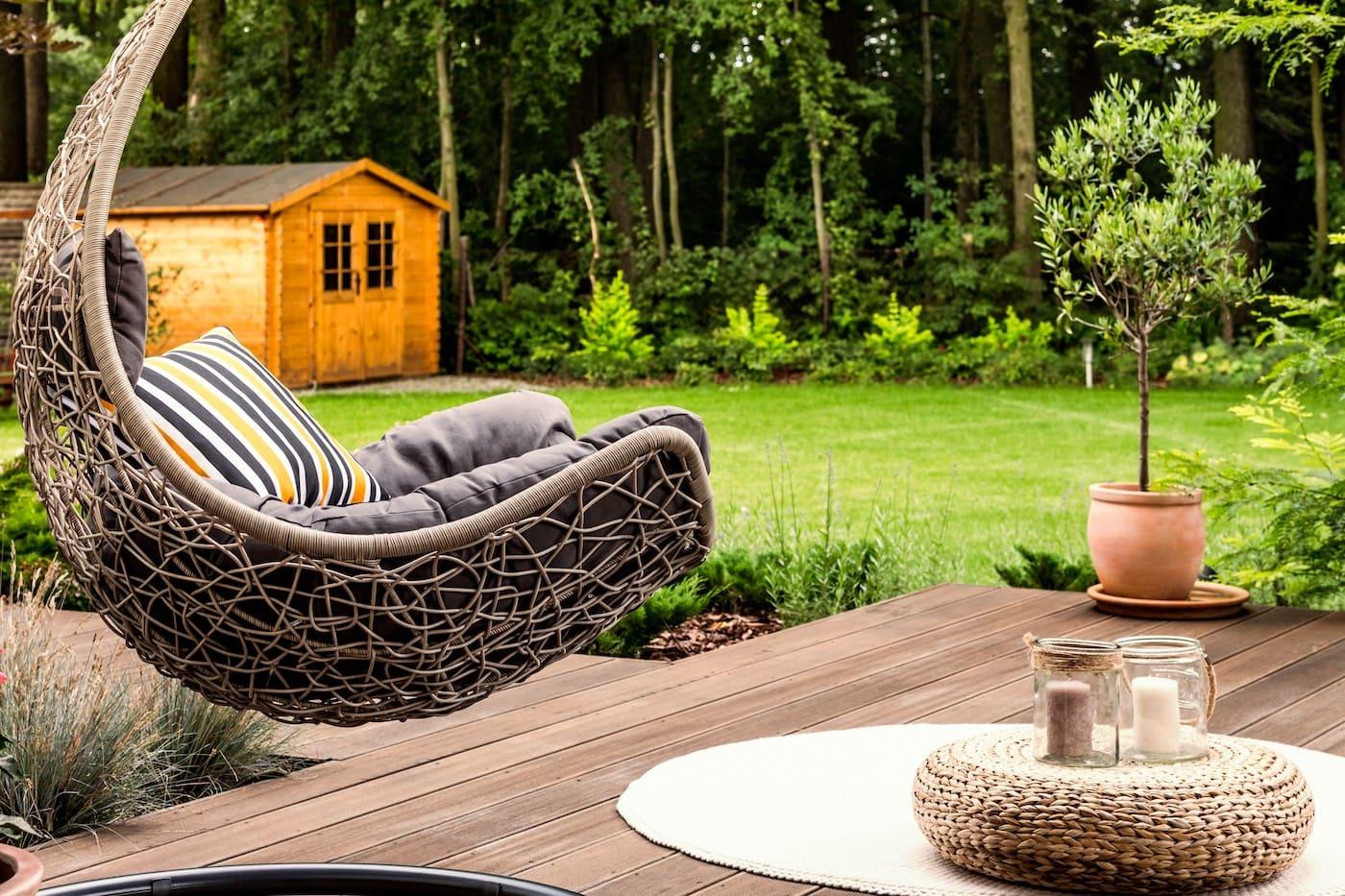 красивый сад частного дома фото 77