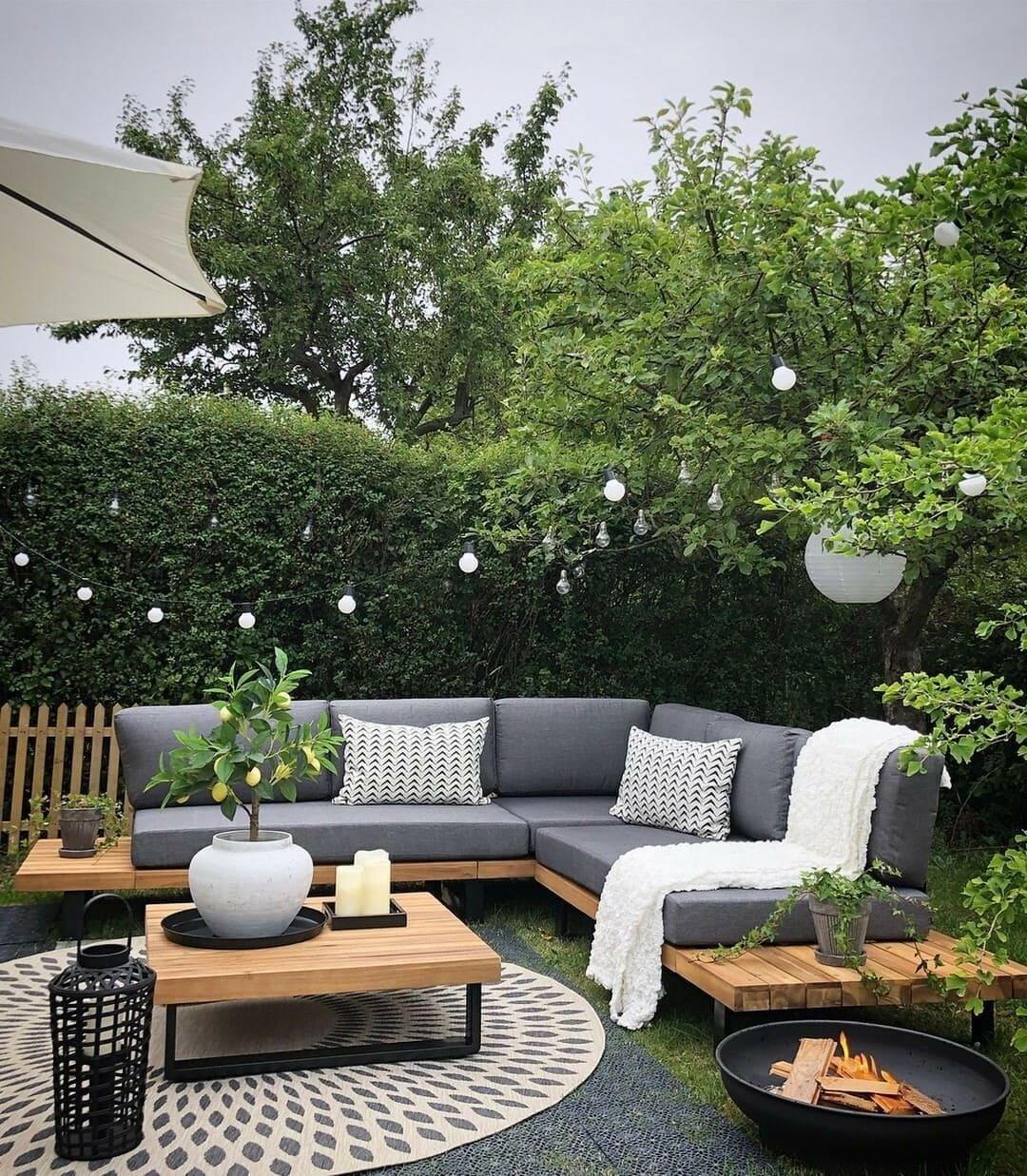 красивый сад частного дома фото 67