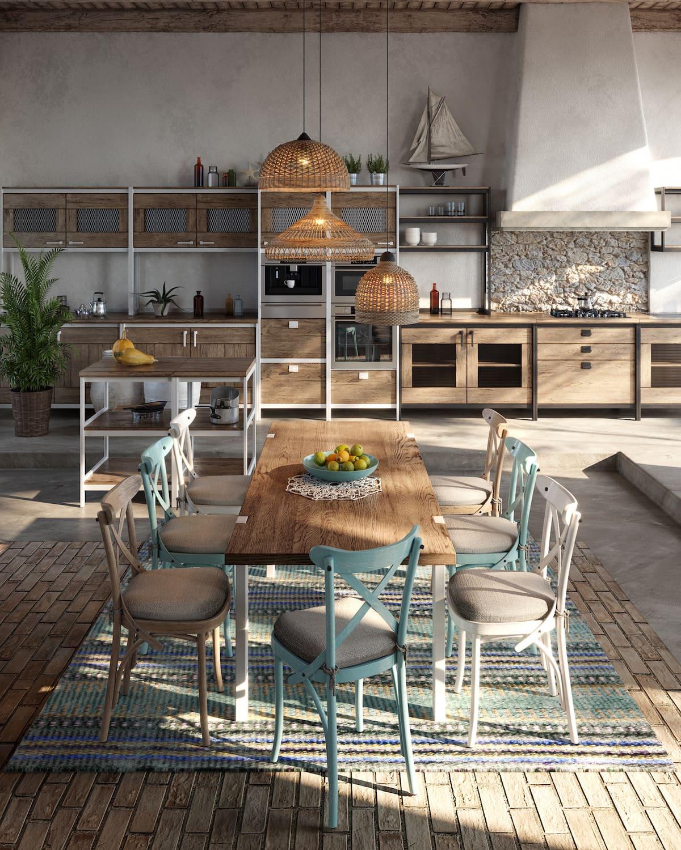 модный интерьер кухни фото 39
