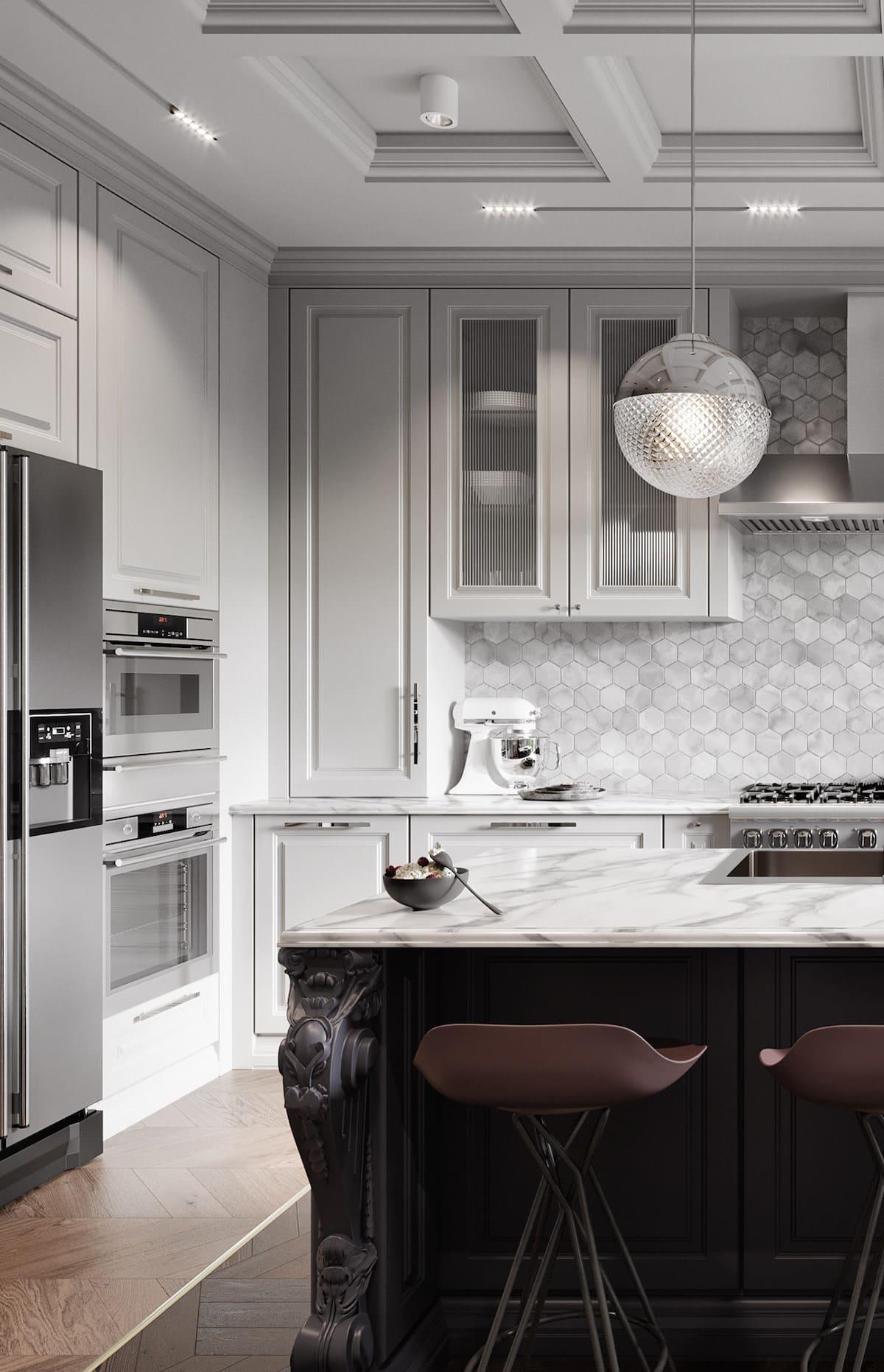модный интерьер кухни фото 36