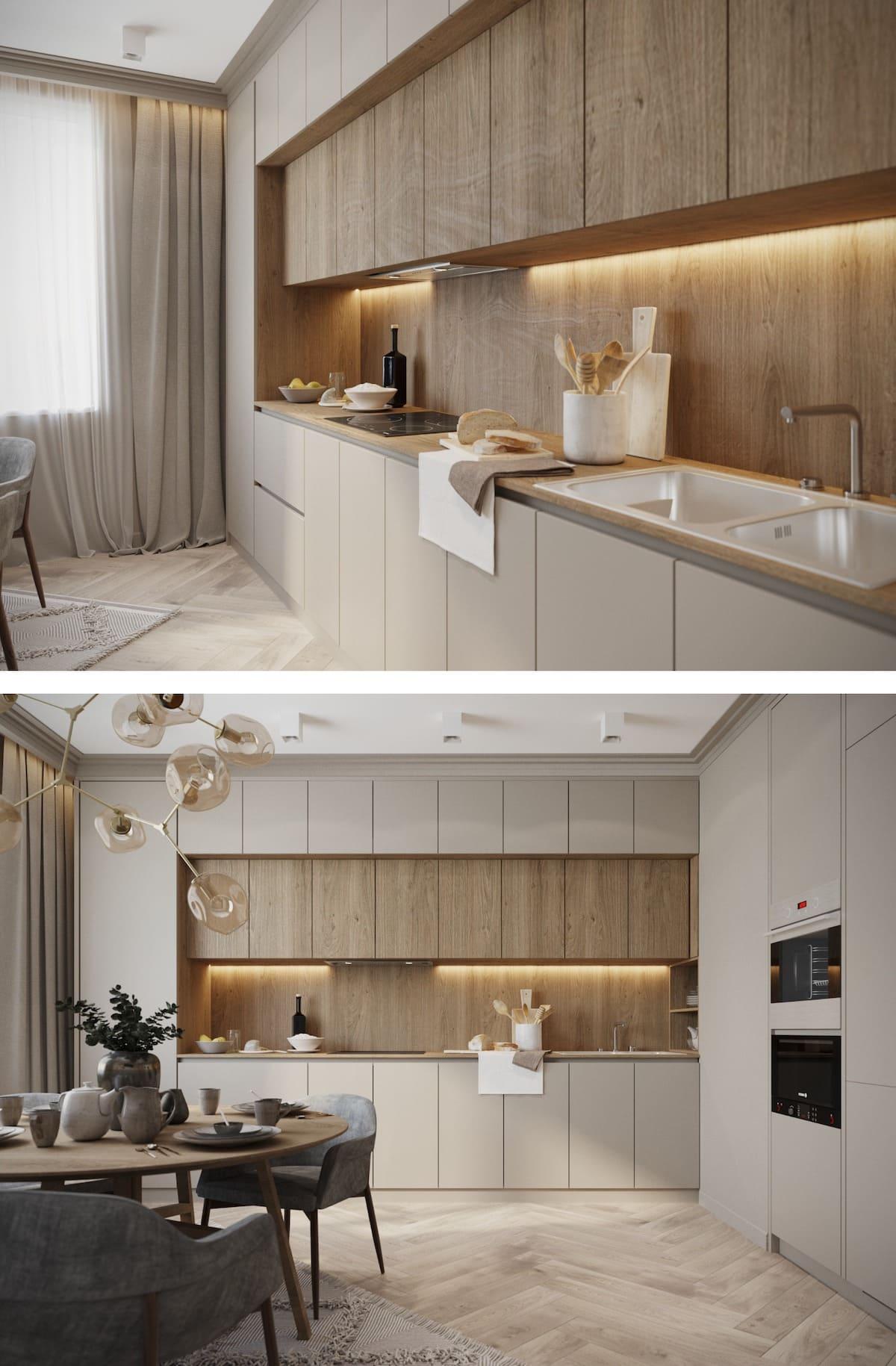 модный интерьер кухни фото 77