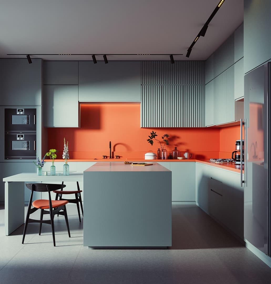 модный интерьер кухни фото 11