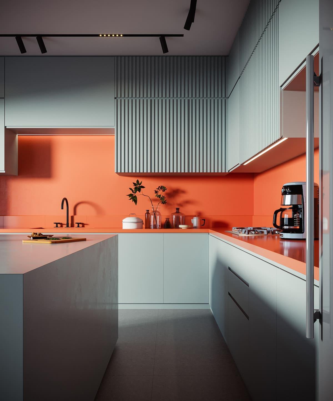 модный интерьер кухни фото 10