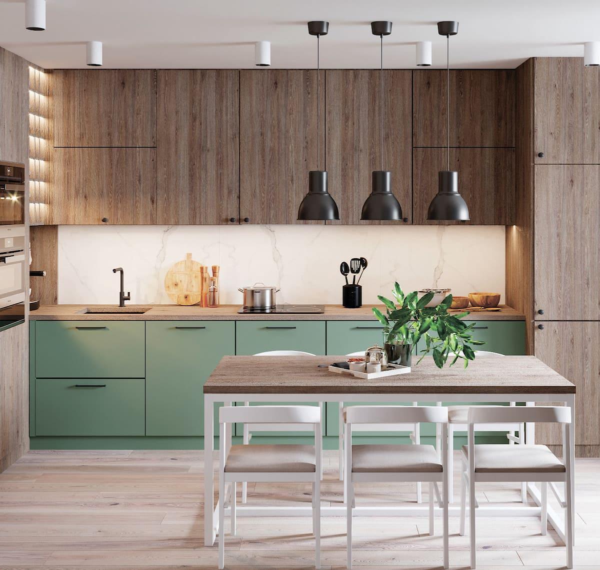 модный интерьер кухни фото 26