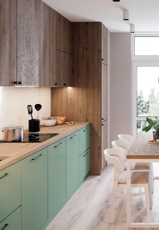 модный интерьер кухни фото 28
