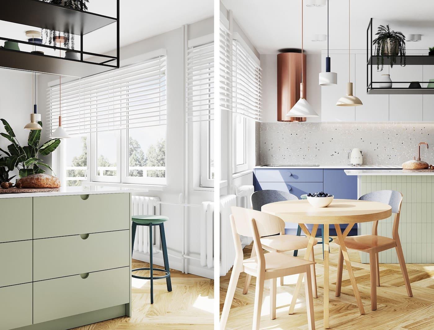 модный интерьер кухни фото 63