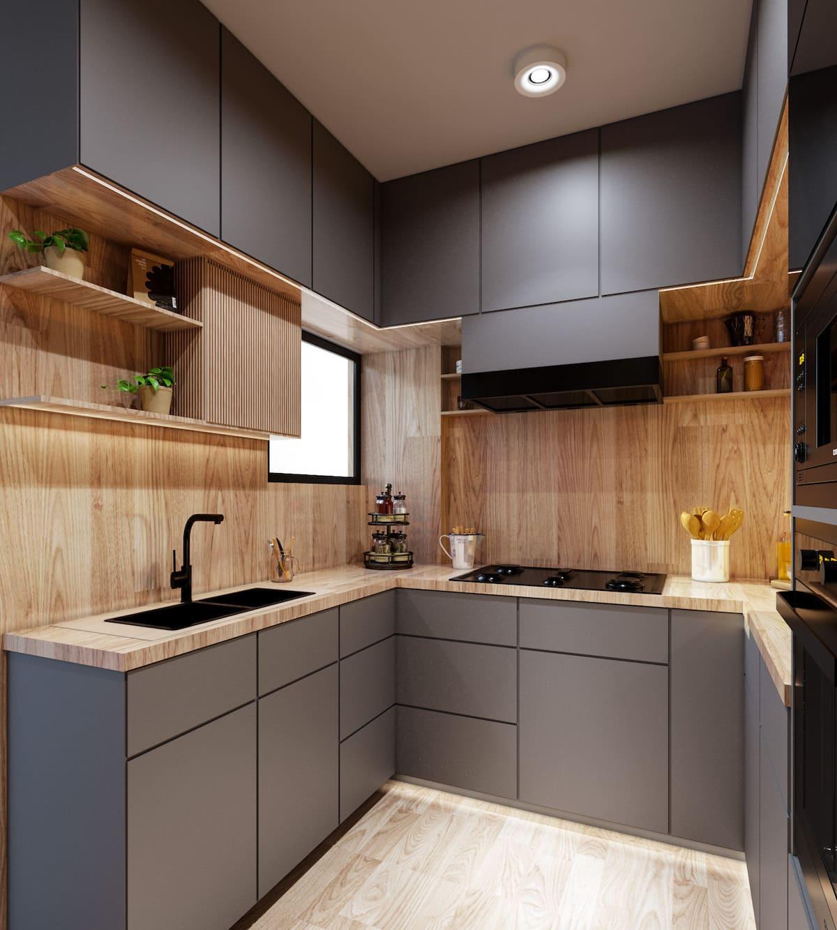 модный интерьер кухни фото 85