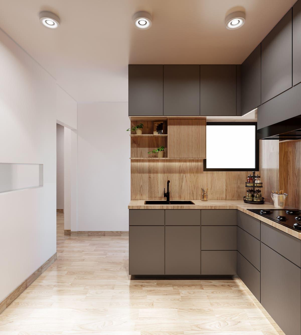 модный интерьер кухни фото 87