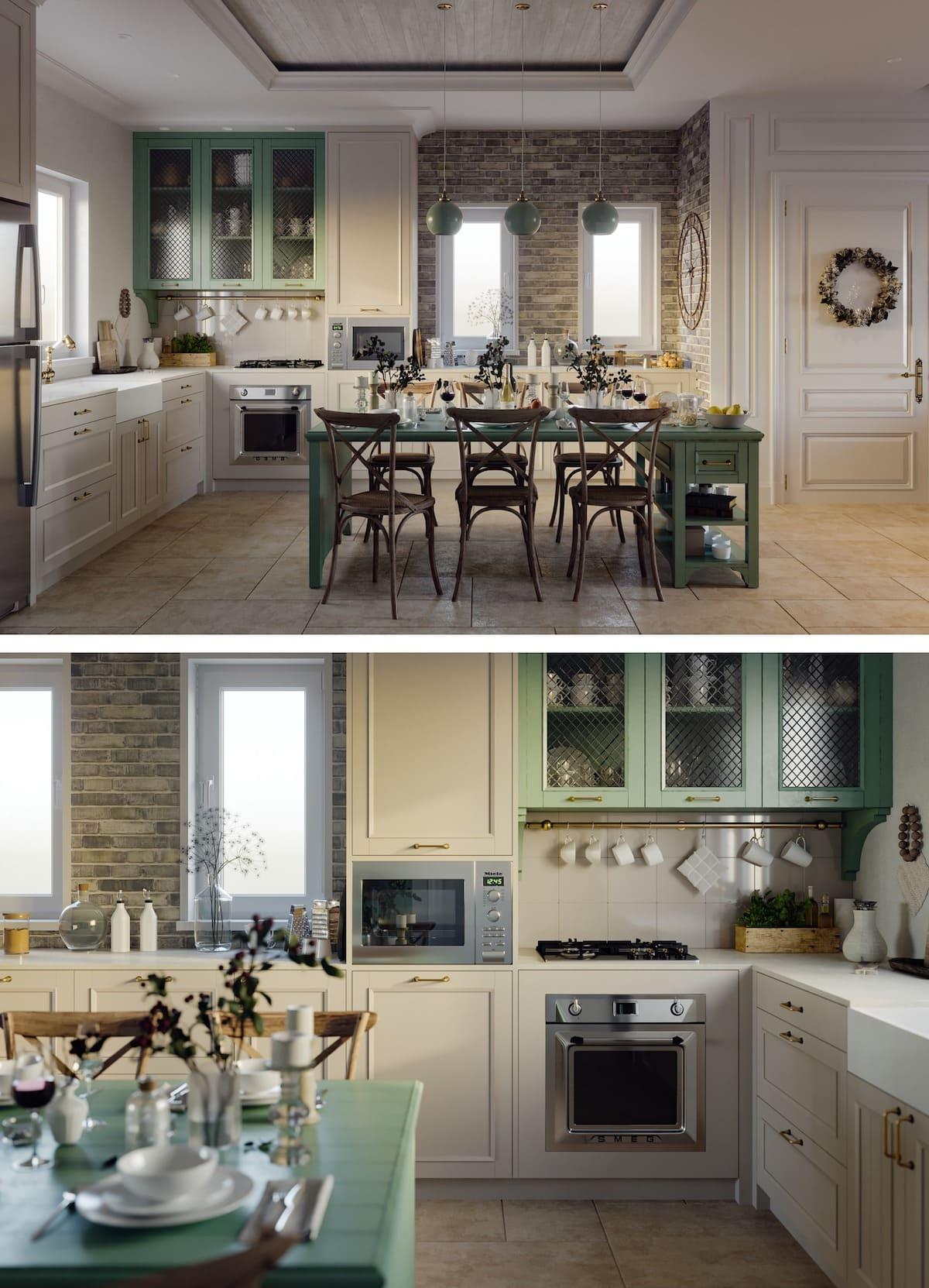 модный интерьер кухни фото 43
