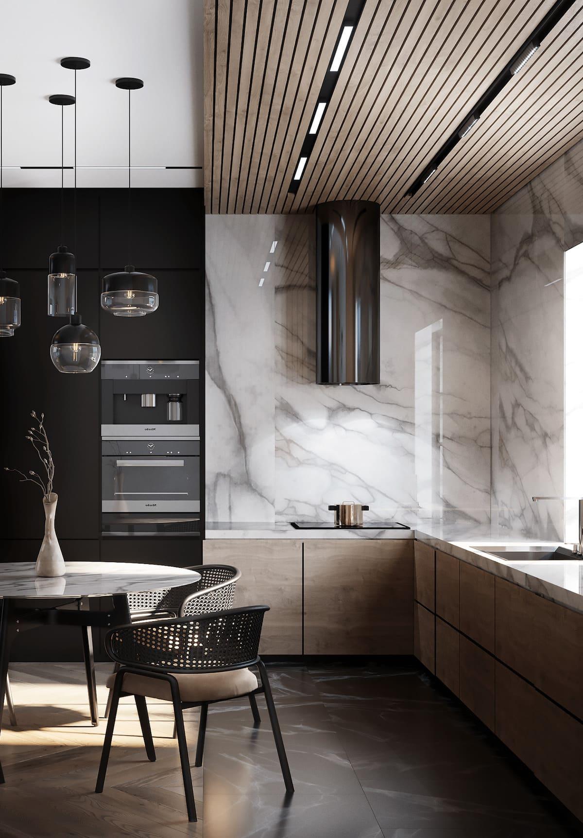 модный интерьер кухни фото 3