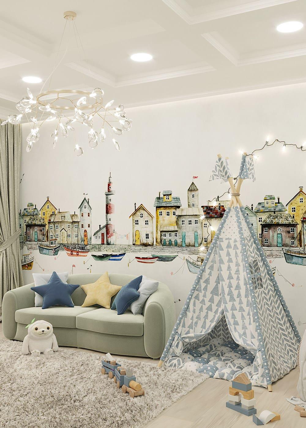 интерьер детской комнаты фото 75