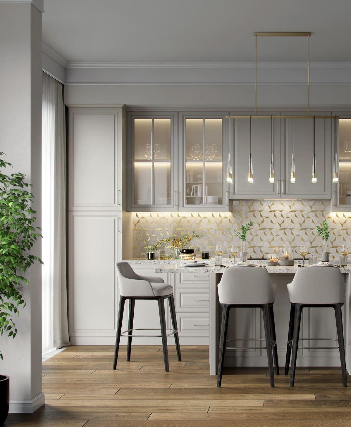 красивый дизайн кухни 75