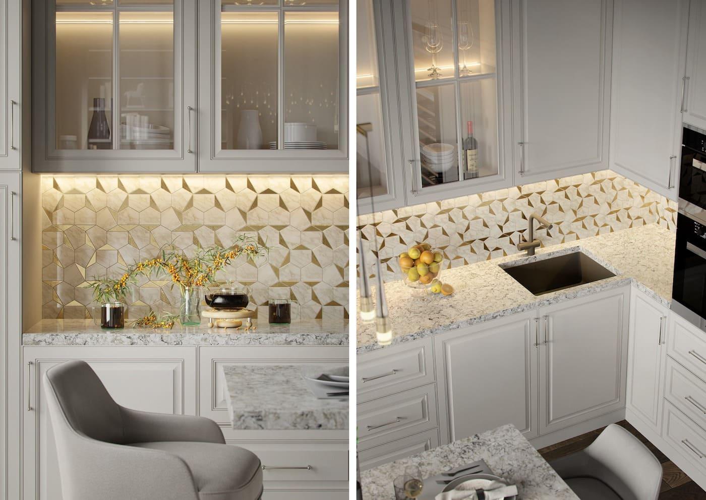 красивый дизайн кухни 77