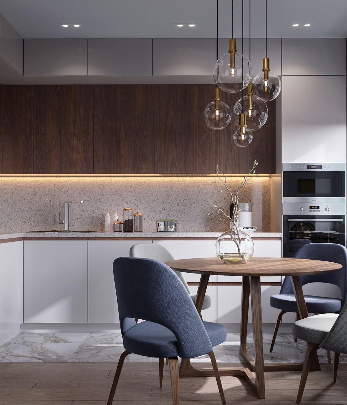 красивый дизайн кухни 51