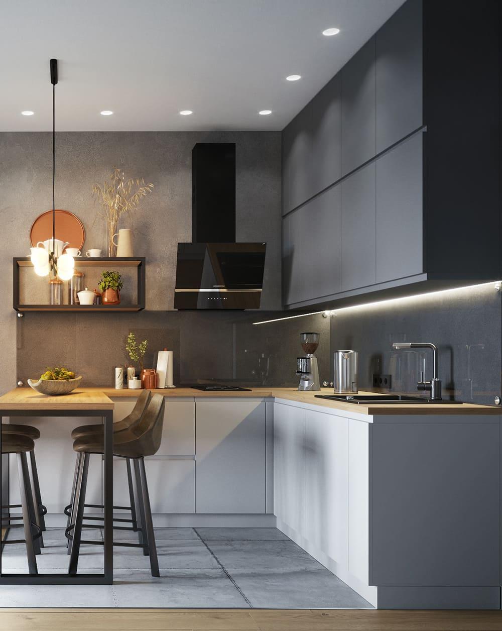 красивый дизайн кухни 17