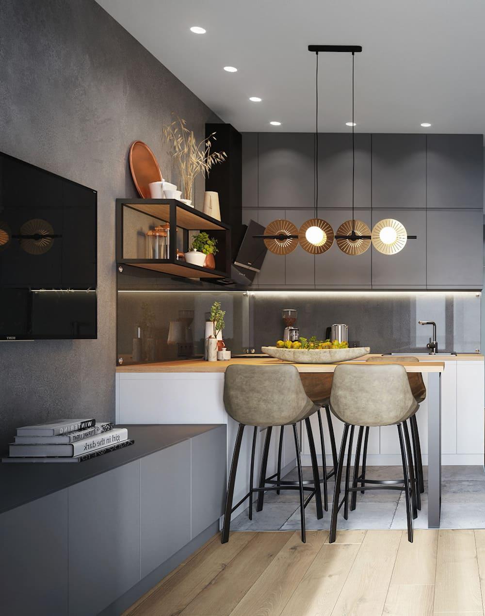 красивый дизайн кухни 19