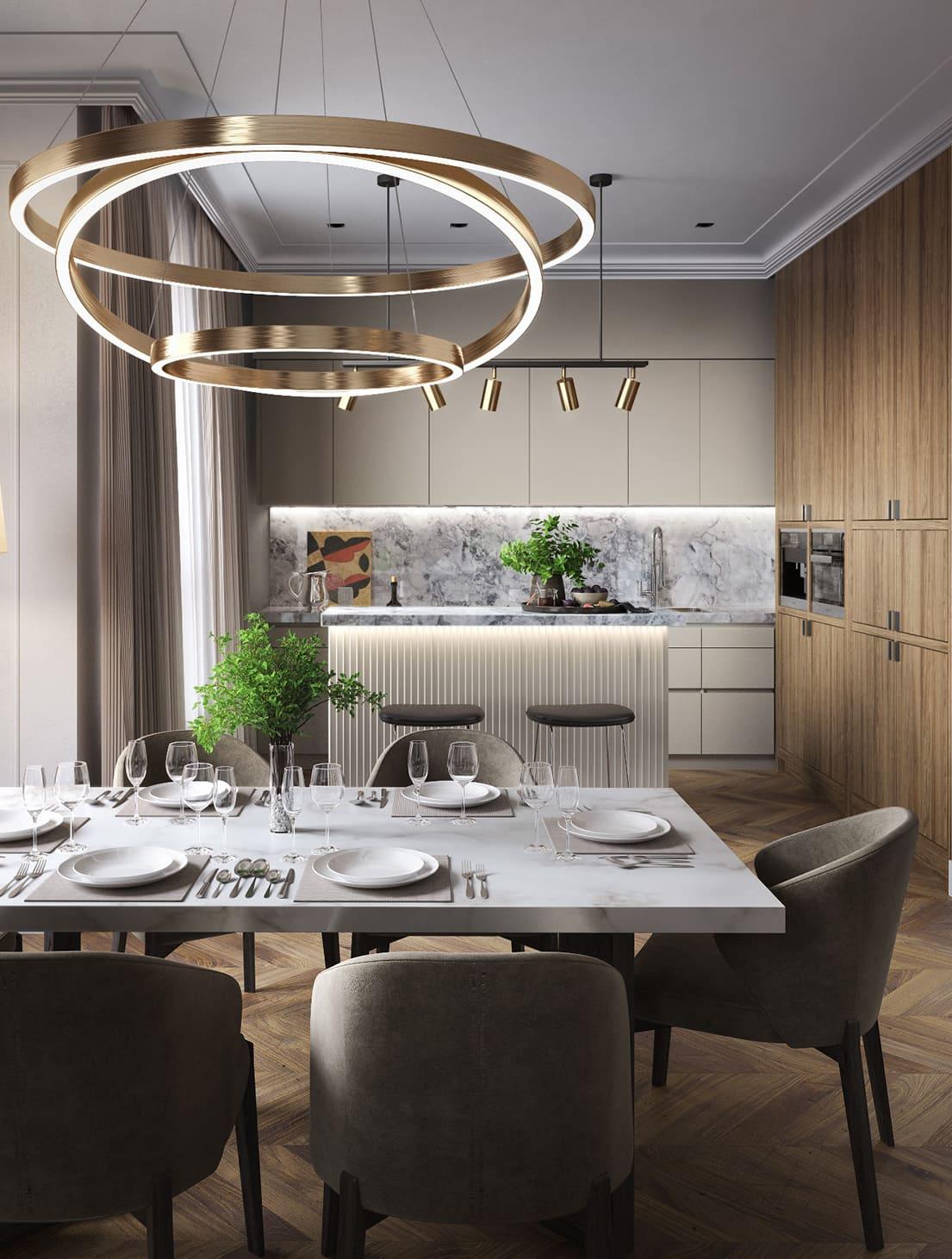 красивый дизайн кухни 32