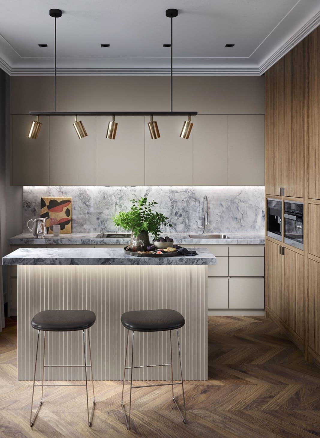 красивый дизайн кухни 33