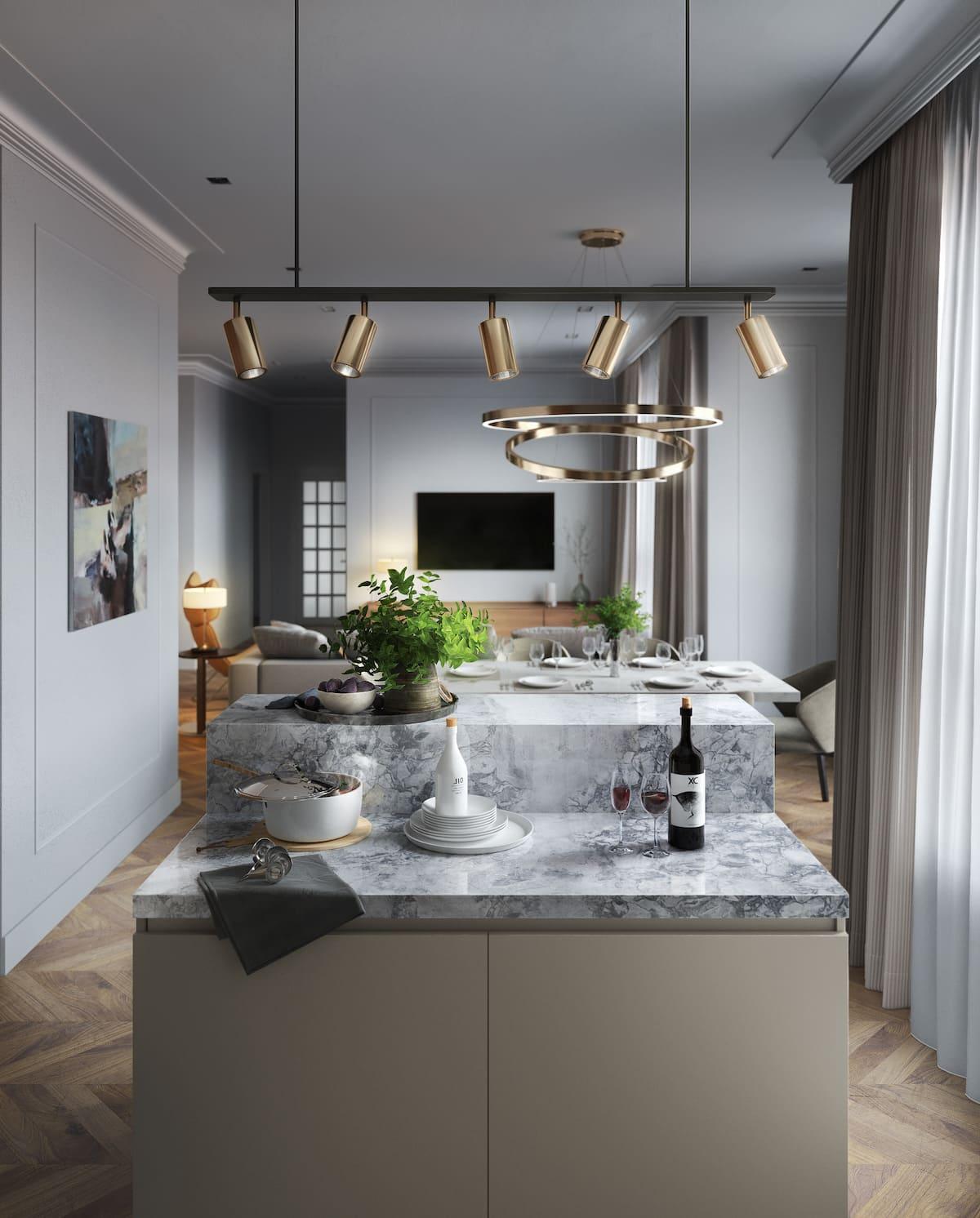 красивый дизайн кухни 35