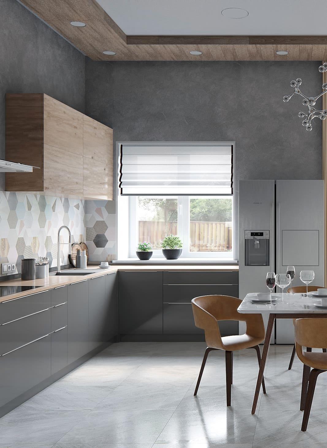 красивый дизайн кухни 37