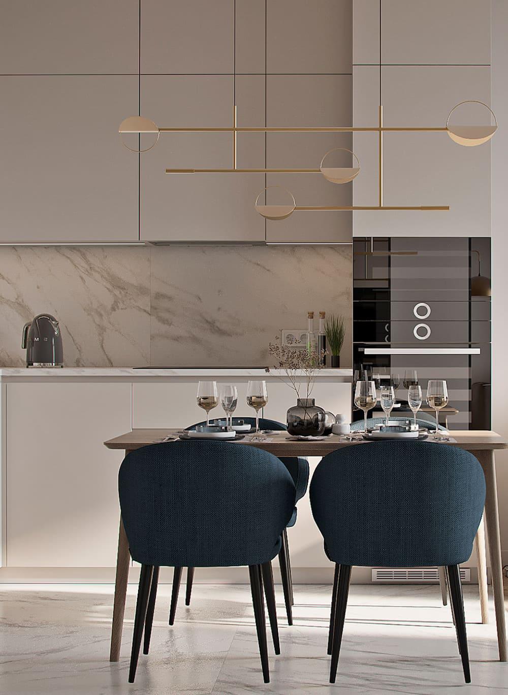 красивый дизайн кухни 70