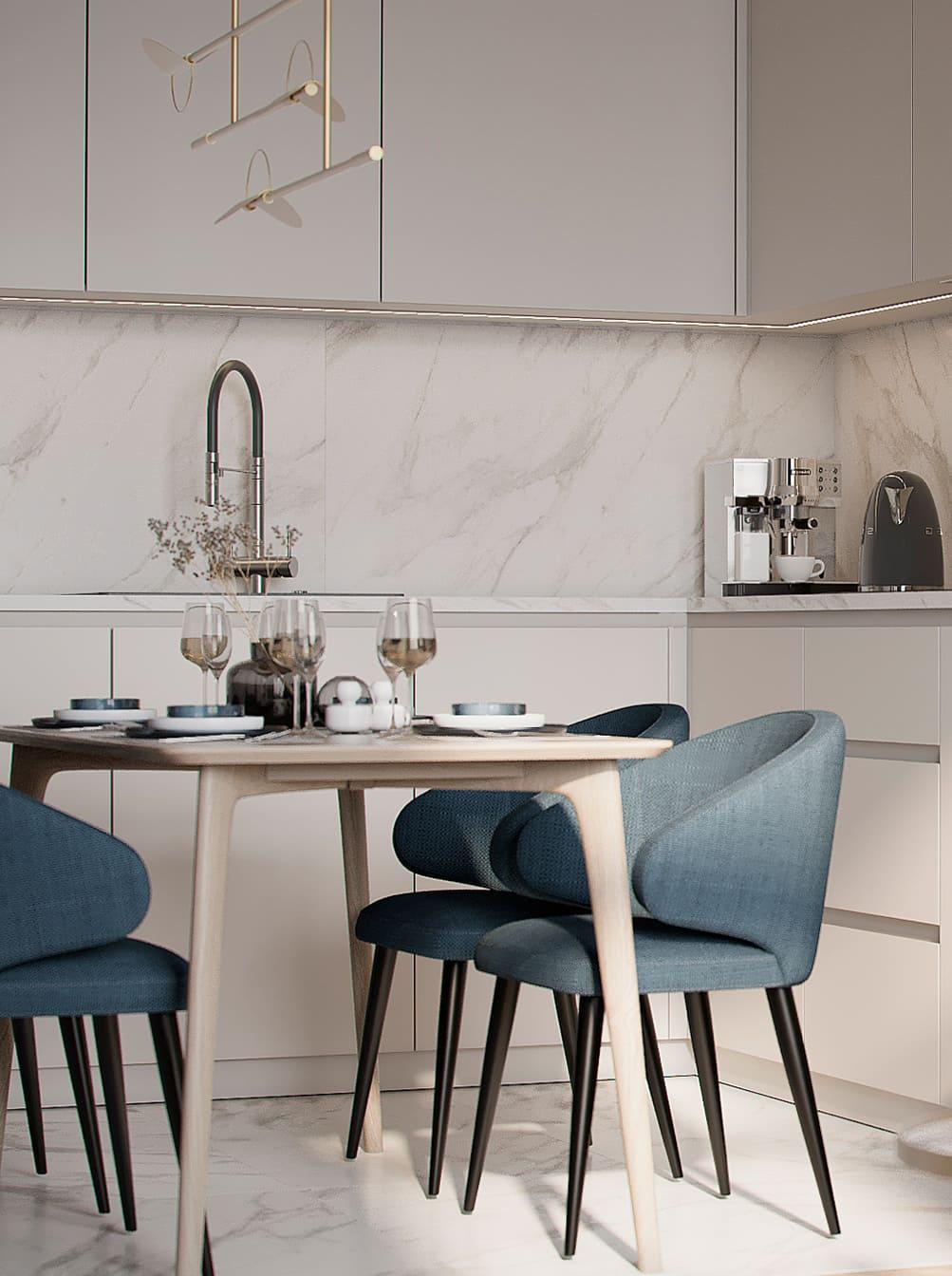 красивый дизайн кухни 71
