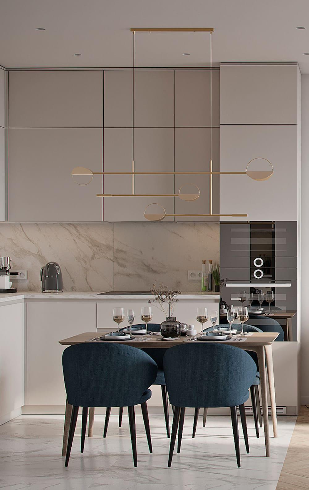 красивый дизайн кухни 73