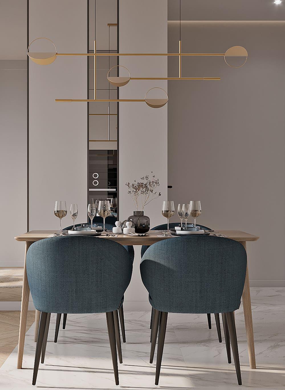 красивый дизайн кухни 74